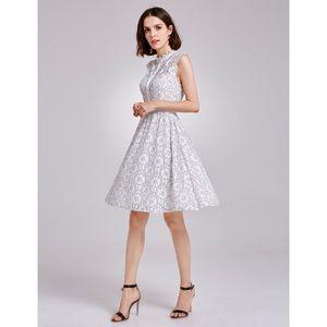 🔥White Lace Dress